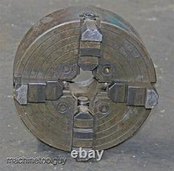 UNION 10 INDEPENDENT 4-JAW LATHE CHUCK with 2 7/8 x 5 TPI SPINDLE