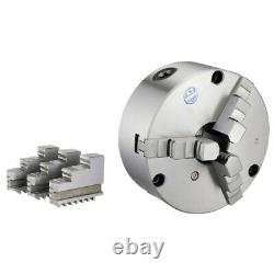 Vertex 4 3-jaw Front Mount Lathe Chuck 2 Sets Of Jaws (3800-5820)