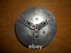 Vintage 8 Pratt Burnerd 3-Jaw Metal Lathe Chuck Has Normal Wear And Tear