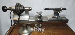 Vintage American Watch Clock Makers Lathe Lots Of Collets, Chucks, & Tools
