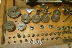 Vintage Boxed Set Watchmakers 6mm Collet LATHE F. LORCH Ring/Step Chucks, Jacot